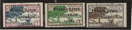 WALLIS ET FUTUNA - TIMBRES 92 -93 -97 OBLITERES SURCHARGE FRANCE LIBRE -ANNEE 1941 - Used Stamps