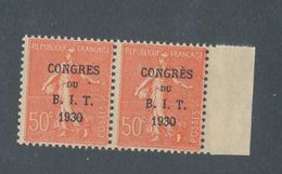 FRANCE - PAIRE N°YT 264 NEUVE* AVEC CHARNIERE - CONGRES SANS ACCENT - 1930 - Neufs