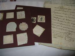 LOT 17 CACHETS NOTAIRES TRIBUNAUX REGIMENTS DE 1776 A 1813 CALVADOS CAEN ROUEN SEINE - Gebührenstempel, Impoststempel
