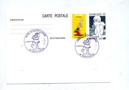 Carte Postale  Juvarouen + Asterix Cachet Saint Louis Noel 2019 - Enteros Postales