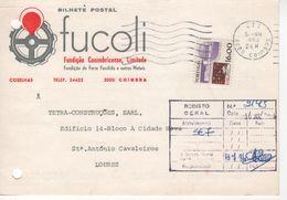 FUCOLI , Fundição Conimbricense , Commercial Postcard  (holed)  , 1984 , 7 Waves Coimbra Postmark , - Werbung