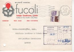 FUCOLI , Fundição Conimbricense , Commercial Postcard  (holed)  , 1984 , 7 Waves Coimbra Postmark , - Advertising