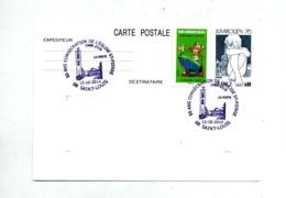 Carte Postale  Juvarouen + Asterix Cachet Saint Louis Eglise Saint Pierre - Enteros Postales