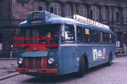 Reproduction Photographie D'un Bus Somua Ligne 23 Robertsau Avec Publicité Bière D'Alsace Ancre Pils à Strasbourg 1965 - Repro's