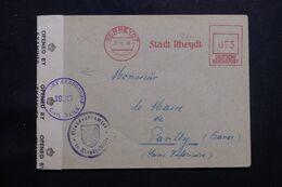 ALLEMAGNE - Enveloppe De Rheydt Pour La France En 1946 Avec Contrôle Postal, Affranchissement Mécanique - L 65040 - American,British And Russian Zone