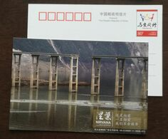 Landslide,Broken Bridge,China 2009 First Anniversary Album Of Wenchuan Earthquake Disaster Relief Pre-stamped Card - EHBO