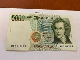 Italy Bellini Uncirculated Banknote 5000 Lira #9 - 5000 Lire