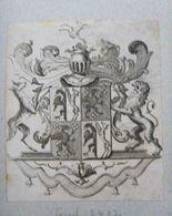 Ex-libris Héraldique XVIIIème - BELGIQUE - HINLOPEN (Utrecht) - Ex Libris
