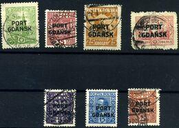 Danzig Nº 12, 14/16, 18, 21, 20. Año 1926/31 - Used Stamps