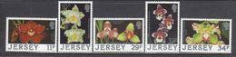 Jersey 1988 - Orchids, Mi-Nr. 425/29, MNH** - Jersey