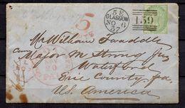 Grande-Bretagne Lettre De 1857 Pour Les Etats-Unis. Affranchie Avec YT N° 20. A Saisir! - 1840-1901 (Victoria)