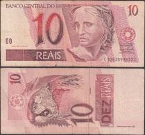 BRAZIL - 10 Reais ND (1997-) P# 245Ak America Banknote - Edelweiss Coins - Brazilië
