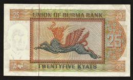 """25 Kyats  """"MYANMAR, Burma, Birmanie""""  Dragon Ailé UNC   Ro 43 - Myanmar"""
