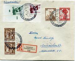 ALLEMAGNE LETTRE RECOMMANDEE DEPART GARMISCH-PARTENKIREHEN 15-2-36 1V OLYMPIFCHE SPIELE (OBL. ILLUSTREE J.O.) POUR...... - Sommer 1936: Berlin