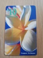 BAHAMAS $10,- CHIPCARD FRANGIPANI  THE BAHAMAS  FLOWER **2731** - Bahamas