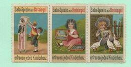 5 Poster Stamps Toys Lead Soldiers Haffner Bleisoldaten Sala-Spiele Rotsiegel Antique Toys Loden Soldaatjes Speeldozen - Puppen