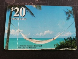 BAHAMAS $20,- CHIPCARD   PARADISE DISCOVERED, SALT CAY BAHAMAS  **2733** - Bahamas
