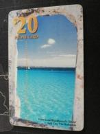 BAHAMAS $20,- CHIPCARD   VIEW FROM BLACKBEARDS TOWER , SALT CAY BAHAMAS  **2734** - Bahamas