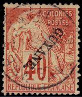 ✔️ Guyane Francais 1892 - Avec Surcharge Renversée - Yv. 26 A (o) - €330 - Usati