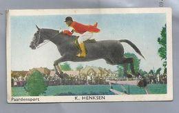 SPORTPLAATJES. PAARDENSPORT - K. HENKSEN. RUITERSPORT. - Equitation