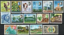 Seychelles 1962. Mi Nr 195 -21, Yvert 188-202  , MH/* - Seychelles (...-1976)
