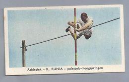 SPORTPLAATJES. ATHLETIEK - K. RUNIA - Polsstok Hoogspringen. ATLETIEK. - Athlétisme