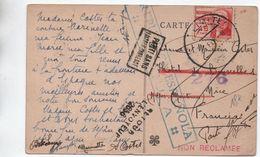 CARTE Avec CENSURE / CENSURA REPUBLICA ESPANOLA Pour NICE (ALPES MARITIMES) -> RETOUR A L'ENVOYEUR - 1931-50 Briefe U. Dokumente