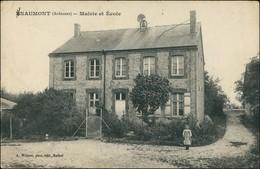 CPA Inaumont Mairie Et École 1920 - Autres Communes