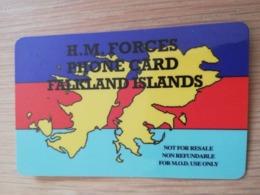 FALKLAND ISLANDS   20 MINUTES HM FORCES  PREPAID  NO   Logo **2745** - Falkland