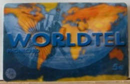PR121 VERSIONE A  -  PREPAGATA - WORLDTEL 5,00€ - N° WT33 41511 - [2] Tarjetas Móviles, Prepagadas & Recargos