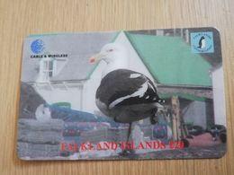 FALKLAND ISLANDS  20 POUNDS  SEAGUL BIRD  PREPAID   **2746** - Islas Malvinas