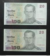 Thailand Banknote 20 Baht Series 15 P#109 SIGN#75 Replacement 0Sพ - 1Sพ UNC - Thaïlande
