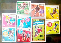 Bernera Island  , Soccer,football, World Cup Argentina 1978 Set Imperfect+ Bl. Mnh - 1978 – Argentine