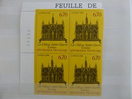 France.bloc De 4 Numéroté Du N° 2926 La Chasse Saint-taurin N**. - Unused Stamps