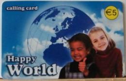 PR124 -PREPAGATA- 5,00€ HAPPY WORLD INTERDIRECT TEL - SCAD. AGOSTO 2011 - N° 3335968793 - [2] Tarjetas Móviles, Prepagadas & Recargos