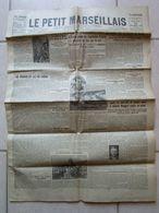 Le Petit Marseillais Septembre 1926 Crash Avion New York Taxi De La Marne Marseille Toulon - Newspapers