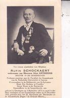 OORDEGEM  SCHOCKAERT Rufin Professeur Médecine LEUVEN 1875-1953 DP Veuf ANTHEUNIS DP - Overlijden