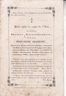 BRUXELLES Doyen Des Peintres Belges VOORDECKER Henri Veuf GULDENTOPS  83 Ans 1861 DP - Obituary Notices