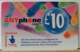 PR129 -  PREPAGATA - ANYPHONE CARD 10 STERLINE - CARDCALL UK  - SCAD. --  N° 11 NL 153639 - Royaume-Uni