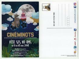 CP Pub Neuve Thème Cinéma - Cinéminots Fête Ses 10 Ans. Festival Cinéma Jeune Public - Posters On Cards