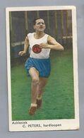SPORTPLAATJES. ATHLETIEK - C. PETERS. HARDLOPEN. HARDLOOPEN. ATLETIEK. - Athletics