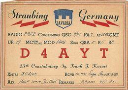 QSL D4AYT Straubing Germany 1947 - Radio-amateur