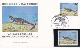 New Caledonia 1996 FDC + 1 St.IMPERFORATE Fossils-Prehistoric - Prehistorics