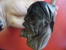 ANCIENNE PIPE EN BRUYERE TETE  De ZOUAVE - Bruyerepfeifen