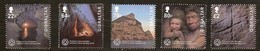 Gibraltar 2016 Micheln° 1746-1750 *** MNH Unesco Gorham Cave - Gibraltar