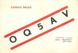 QSL OQ5AV CONGO BELGE - HARROY Albert - Kolwezi BP 1191, 1956 - Radio Amateur