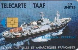 Télécarte 50U, Tirage 1500, Le Marion Dufresne - TAAF - Terres Australes Antarctiques Françaises