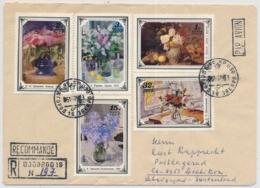 Flugpostbrief Aus Russland / USSR / CCCP Gelaufen Nach Dietikon In Die Schweiz - Mit Blumen Motivmarken - 1923-1991 URSS