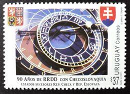 Uruguay 2011 Mnh - 90 Years Diplomatic Relations Czechoslovakia Czech Slovakia Astronomical Clock Prague Praha - Yv 2532 - Uruguay