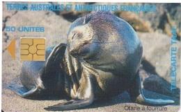Télécarte 50U, Tirage 1500, Otarie à Fourrure - TAAF - Terres Australes Antarctiques Françaises